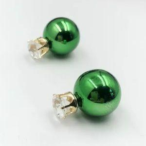 ⚜️[𝟯/$𝟭𝟯]⚜️Green Crystal Simple Earrings New 2